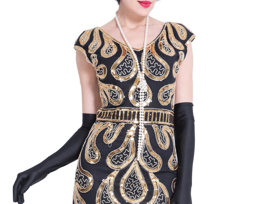 Großhandel Vintage Faux Perlenkette 11cm Lange 11er Jahre Art Deco  Perlen Flapper Gatsby Kleid Frauen Zubehör Für Party 11er Jahre Kostüm Von