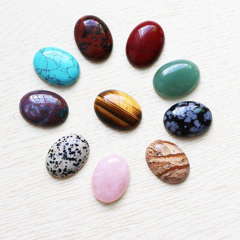Venta al por mayor Color caliente que mezcla la piedra natural Oval CABÓN CABOCHÓN Gotas de lágrima 30mm * 22mm Joyería de DIY que hace el anillo para las mujeres regalo libre 10pcs / lot