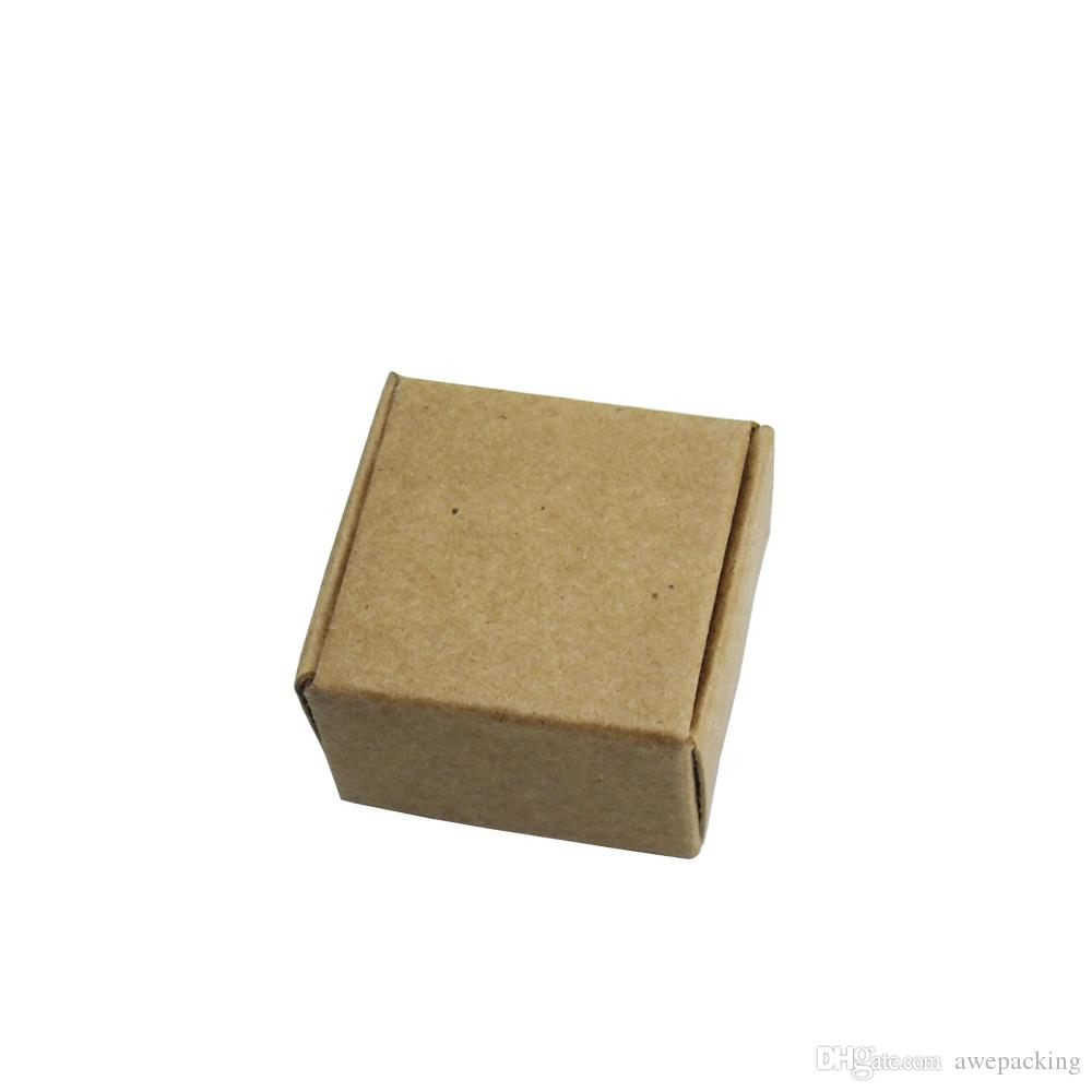 4*4*2.5cm 50Pcs/Lot Biscuits Handmade Soap Wedding Party Candy Packaging Boxes Brown Kraft Craft Paper Jewelry Pack Boxes Gift Pack Box