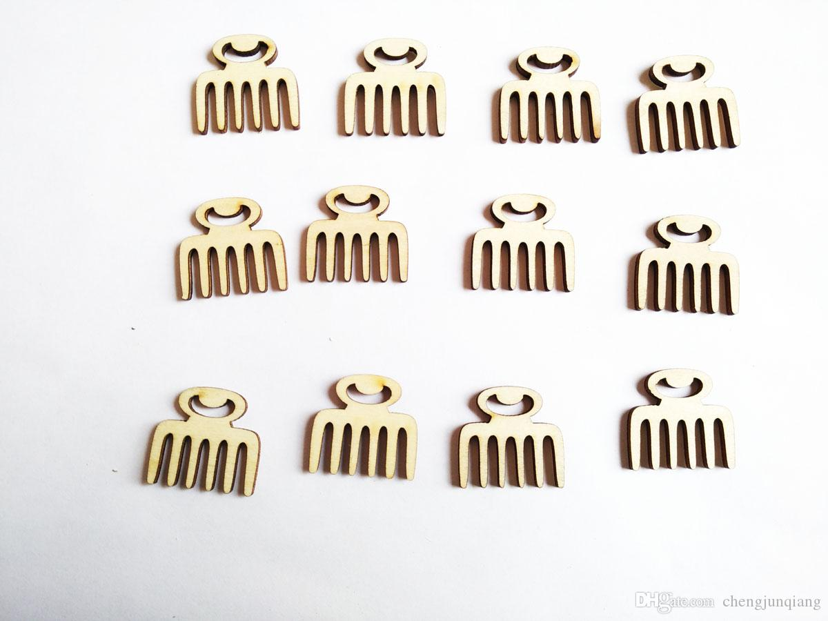 Free shipping, 100pcs/ lot new arrival wood bead natural comb no hole bead stude can DIY Accessories