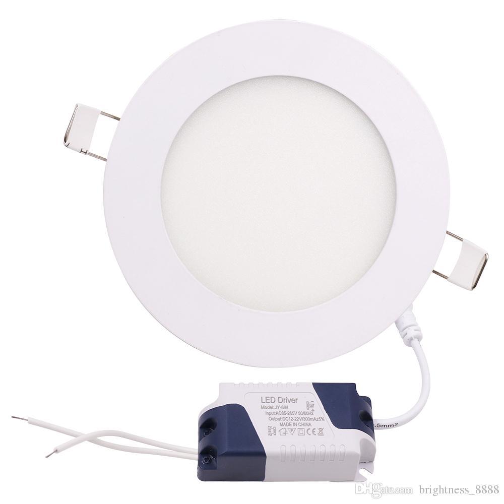 Dimmable 3W / 4W / 6W / 9W / 12W / 15W / 18W / 24W conduziu a lâmpada Recessed de Downlights morno / Natural / refrigere o branco conduziu as luzes de painel redondas super-finas