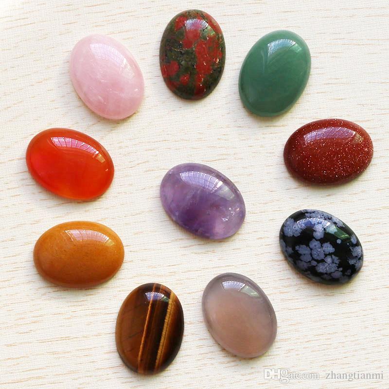 Venta al por mayor 10 unids / lote alta calidad piedra natural oval CABINA CABOCHON cuentas de lágrima DIY joyería que hace para el regalo de vacaciones envío gratis 30mm * 22mm