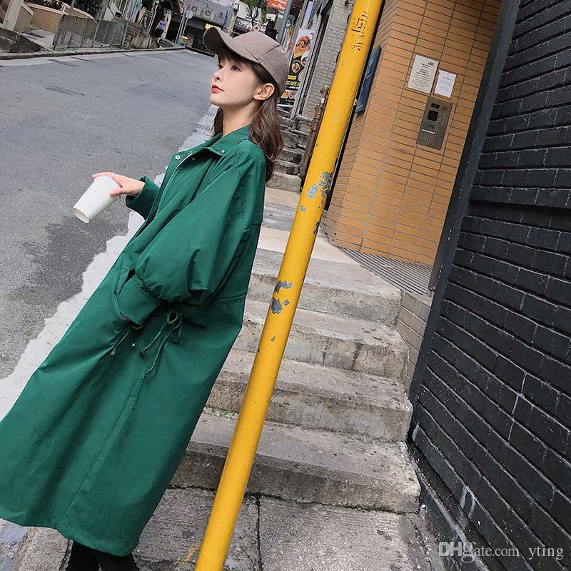 Windbreaker weiblichen langen Abschnitt koreanische Version des Frühjahr und Herbst neuen Mantel Herbst tragen Damen Mantel Mantel