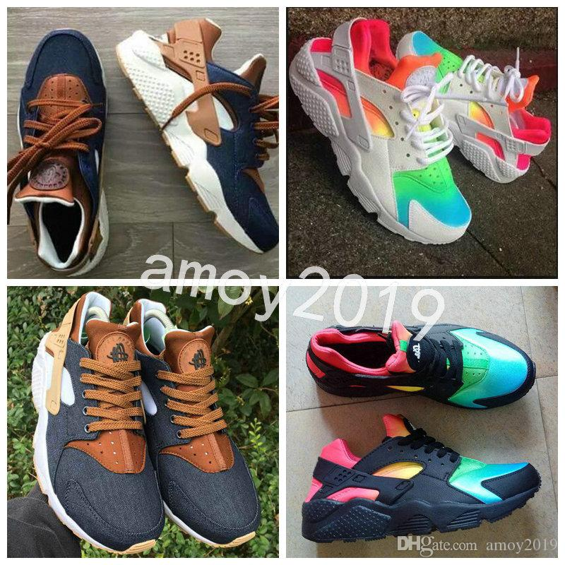 New Air Huarache 2018 Breathe Running Shoes Men Women Hurache navy blue ten Huaraches Multicolor Huraches Mens Trainers Harache Sneakers