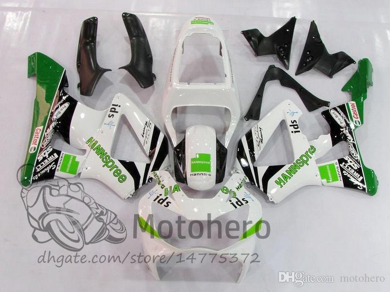 High Quality fairing kits For Honda CBR 929 900 RR 929RR 00 01 CBR900 2000 2001 CBR900RR 00 01 Motorcycle Fairing Kit White Green Bodywork