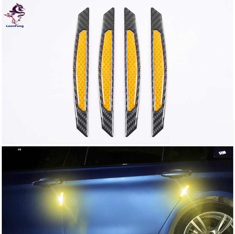 Warning Mark Car Reflective Strips Door Bumper Stickers Tape Auto Safety uk