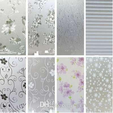 New Arrival Removable Waterproof Privacy Frosted Glass Window Film Dandelion Stickers Film Window Art Decor