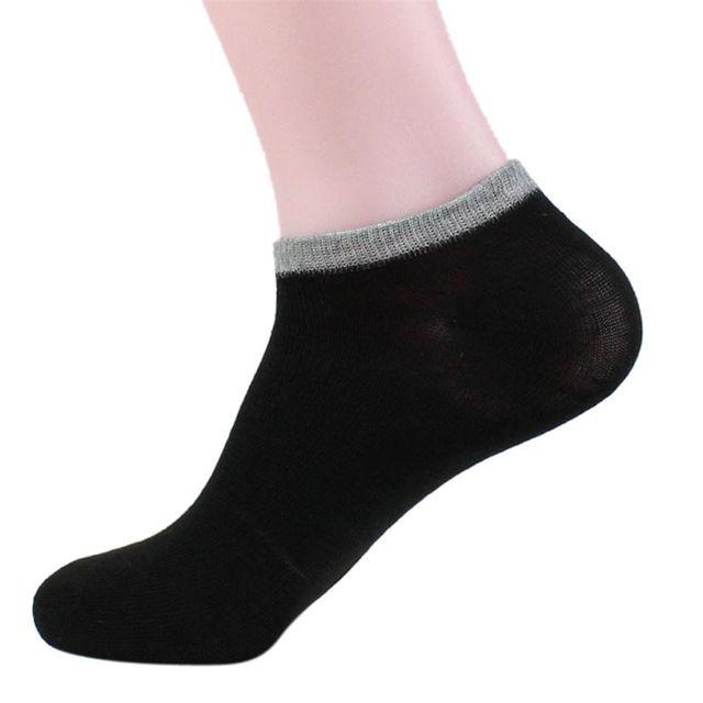 Alta Qualidade Homens meias de algodão Casual respirável Shallow Boca Cinzento Branco Céu Azul Amarelo Preto Cor Púrpura navio meias de homens