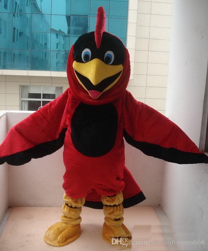 2018 Sıcak satış EVA Malzeme Kask Kırmızı Kuş Kartal Maskot Kostümleri Karikatür Giyim Doğum Günü partisi Masquerade