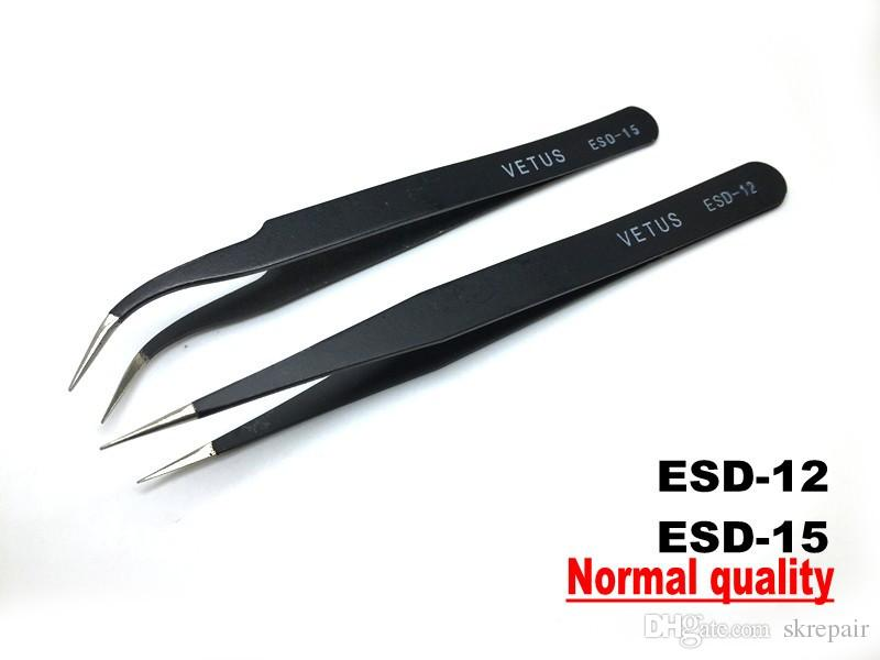 VETUS 6pcs Safe Anti-static Tweezers Maintenance Tools ESD
