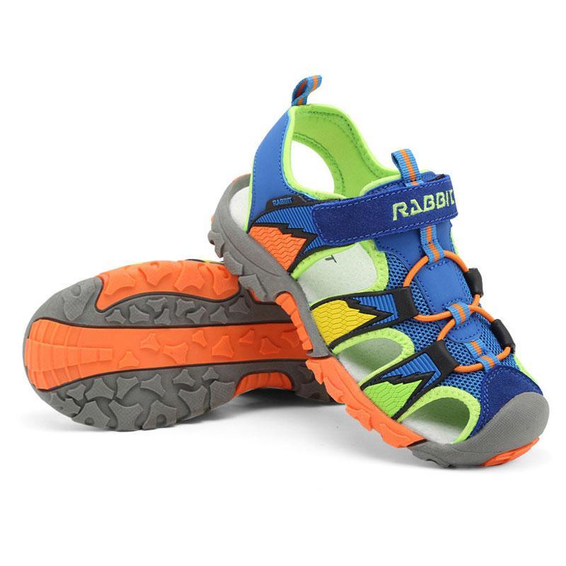 Erkek sandalet Yaz yeni stil Çocuk ayakkabı boys moda cut-çıkışları sandalet çocuklar tuval yağmur sandalet nefes flats ayakkabı