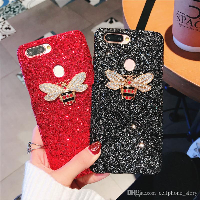 Bling 3D Phone Case Bee Aninal Cute Phone Cover Protection Creative Soft TPU Cover Skin Shell Universal Waterproof 5 Styles
