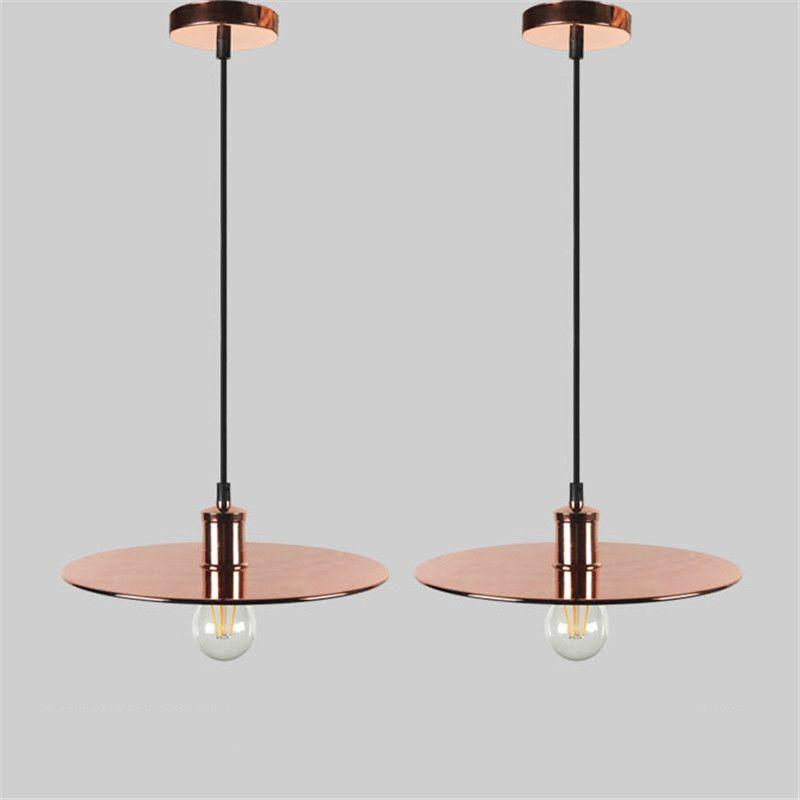 Nordic Vintage Metal Wisiorek Światła E27 Kreatywny Loft Latający Spodek UFO Kształt Lampa dla Cafe Restaurant Store Office Art Deco
