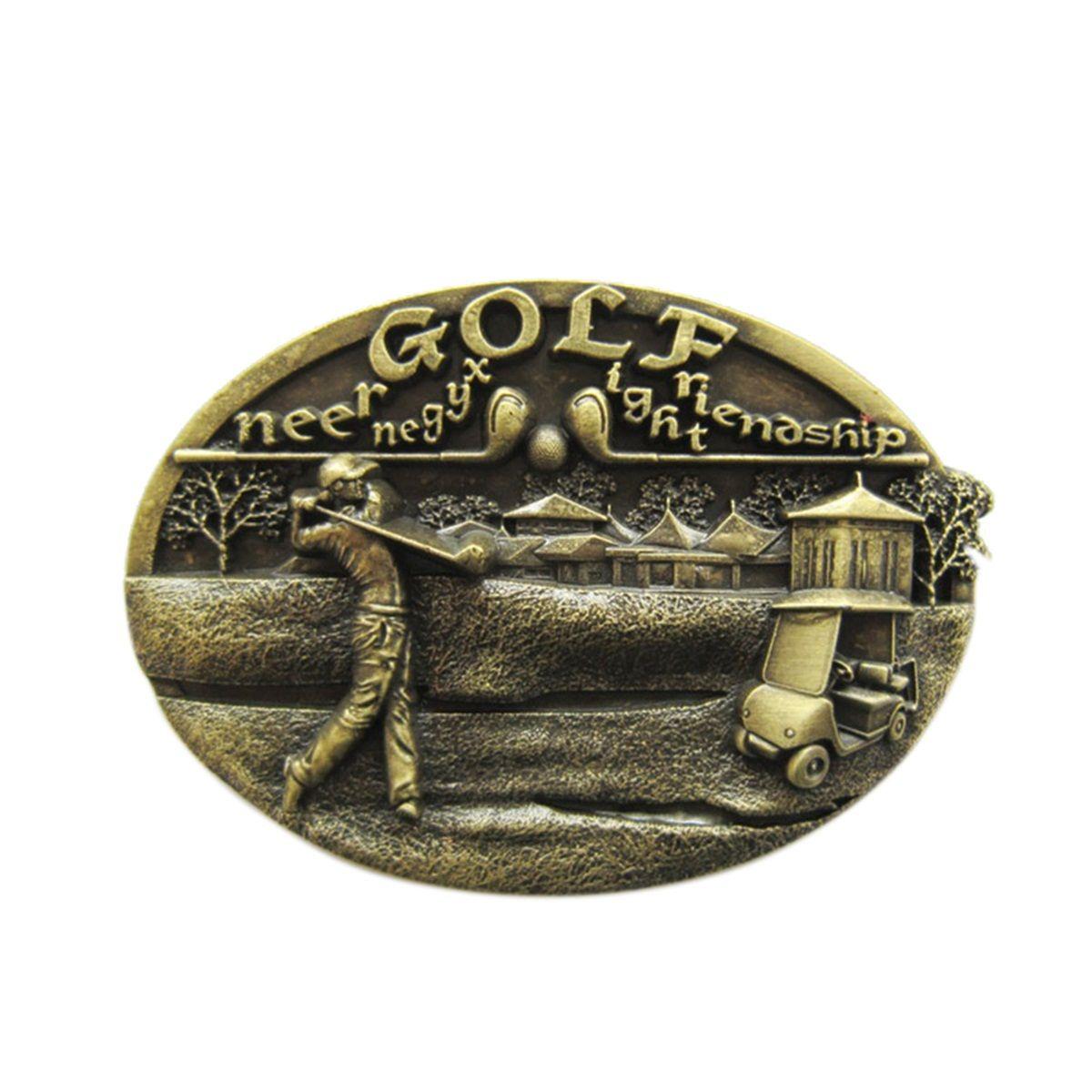 Nueva original Vintage bronce plateado Golf Sports Belt Buckle Gurtelschnalle Boucle de ceinture