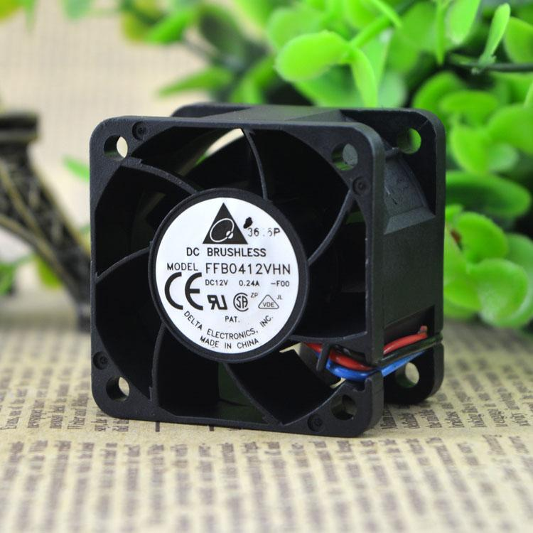 2pcs Free shipping Delta FFB0412VHN 4028 4CM 12V 0.24A 3-Pin DC Cooling Fan
