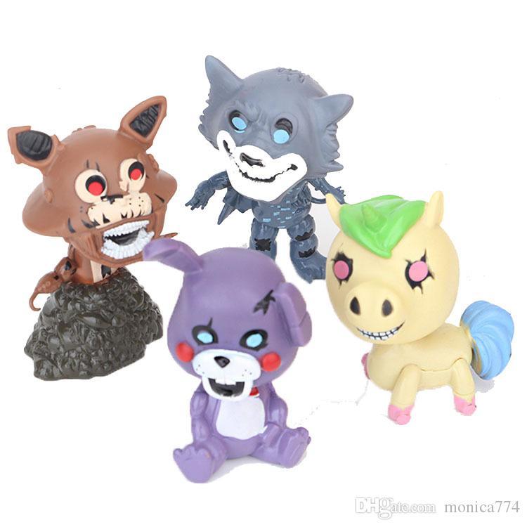 Detaliczna 10 cm Funko Freddy Fazbear, Pięć Nights w Freddy's Film Filmy, Cartoon Unicorn Foxy Pirate Fox, Bonnie The Bunny Doll T21