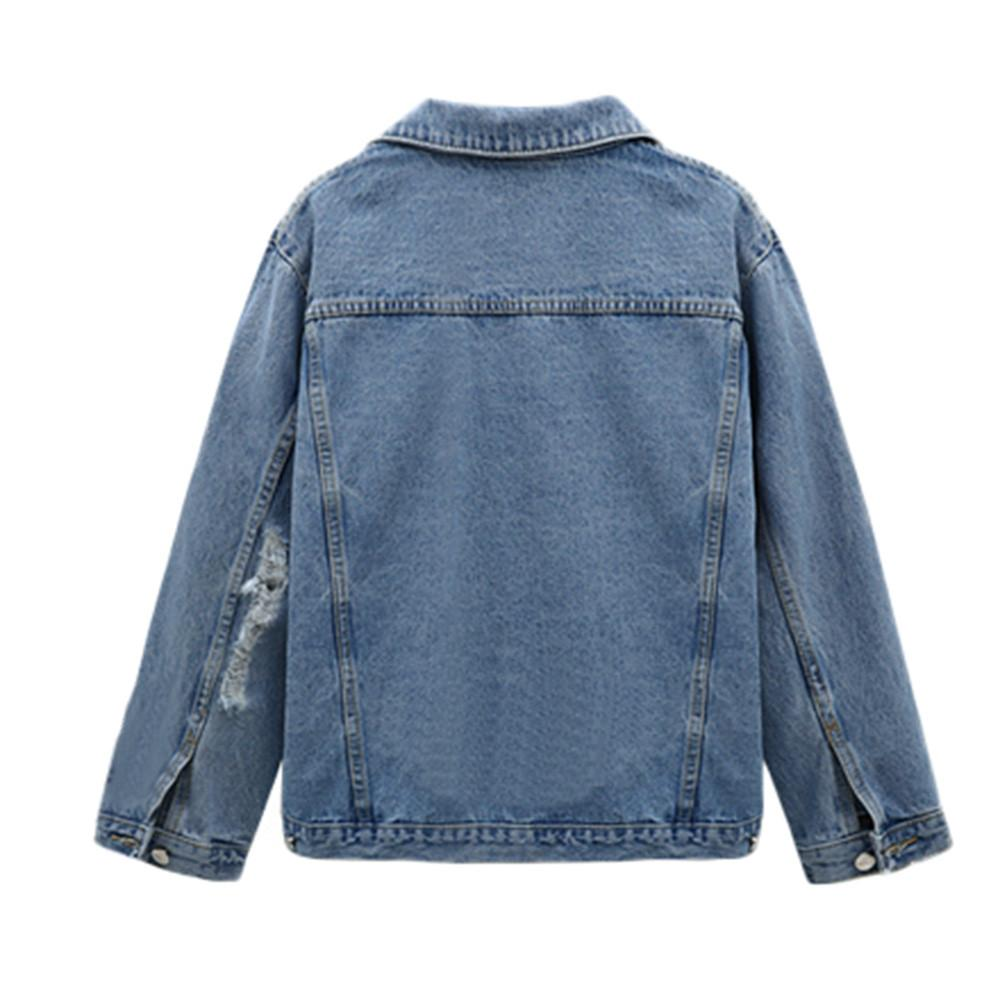 classic denim women coat 2018 Autumn Winter Trendy Jeans Long Jacket button sashes belt Coats ladies Long tops Outerwear oct16