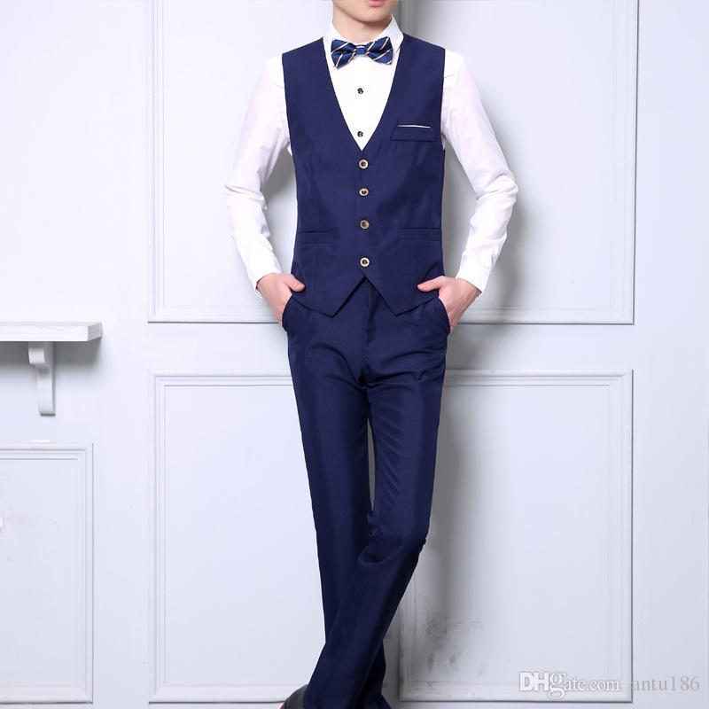 Özelleştirilmiş sonbahar yeni erkek takım elbise yelek erkekler beyefendi Ince moda yelek tek göğüslü yelek ücretsiz seçim boyutu ve renk