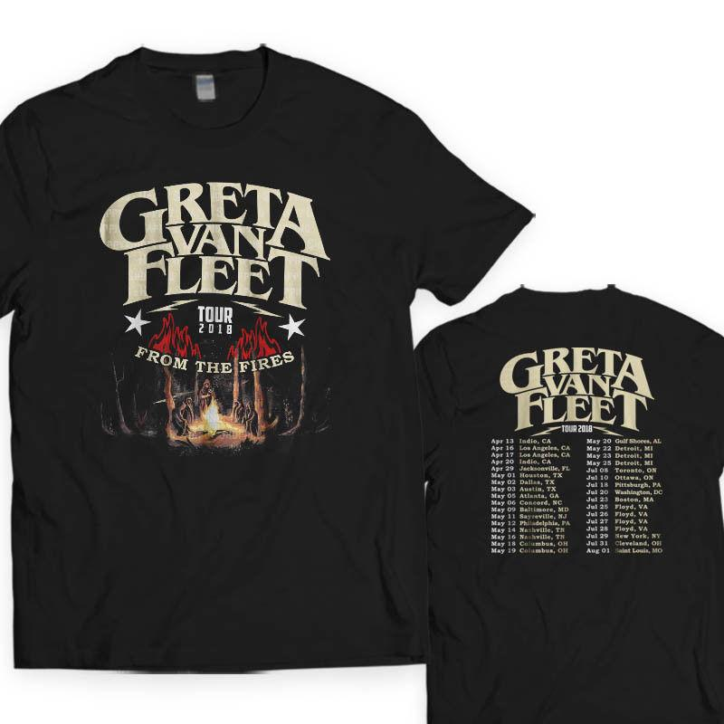 100% quality limited guantity no sale tax NEW GRETA VAN FLEET Tour Dates 2018 Album Tour T SHIRT S 5XL MAN WOMAN T  Shirt Slogan Daily T Shirts From Australiae, &Price;| DHgate.Com