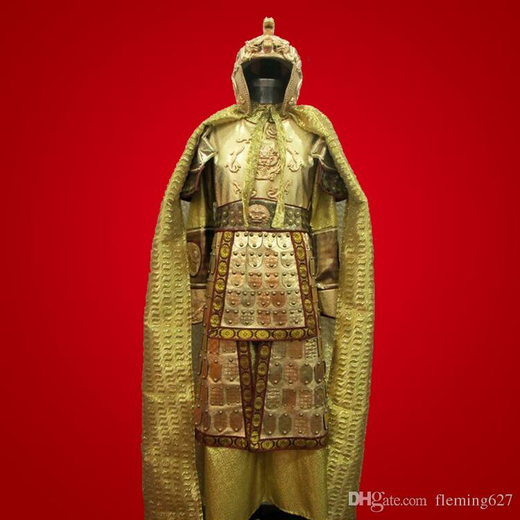 China TV Movie drama battle armour Medieval Battle fields Emperor Fighting Outfit Ancient Chinese generals armor costume uniform