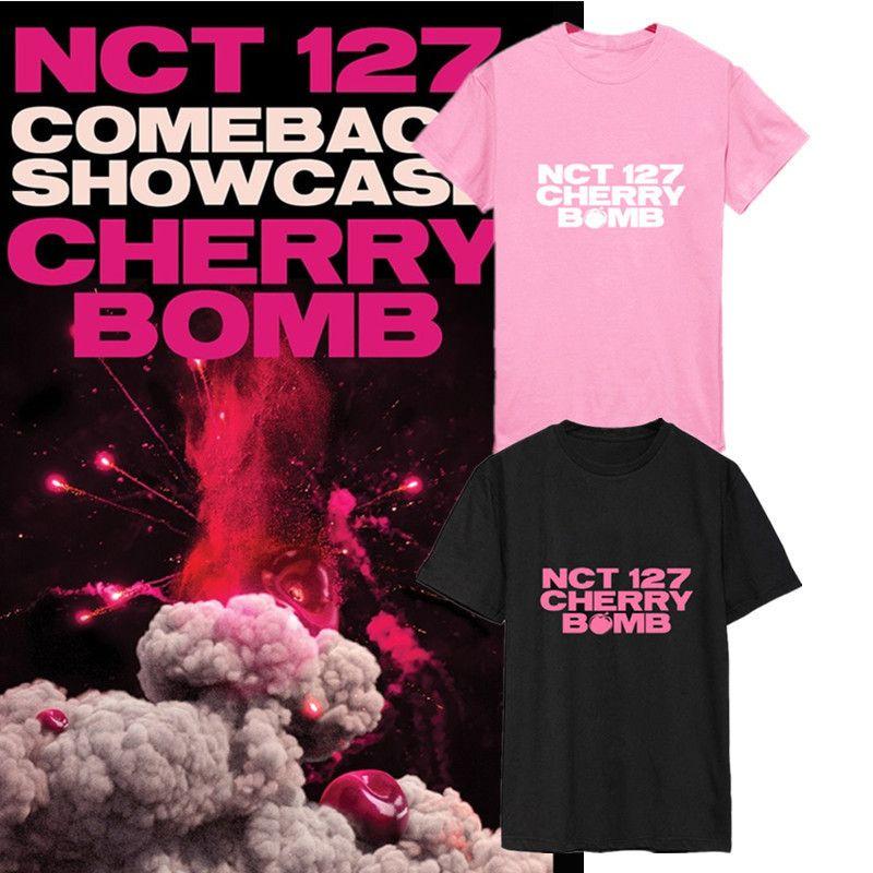 Damska koszulka KPOP NCT127 NCT 127 Cherry Bomb Koszulki K- Casual Coon Ubrania Tshirt T Shirt Krótki rękaw Topy DX479