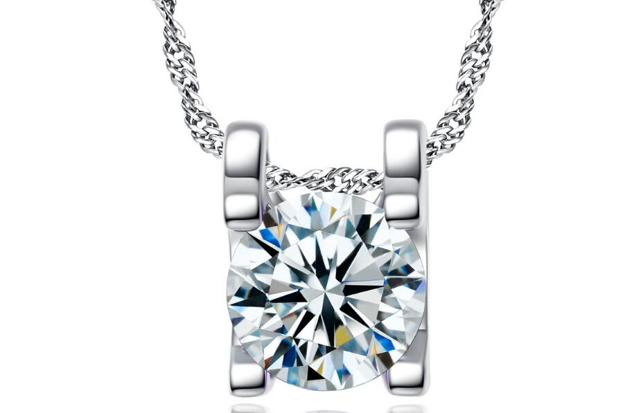 Necklace And Pendants With jewelry Chain CZ Crystal Stone Accessories square sharp necklace pendant jewelry
