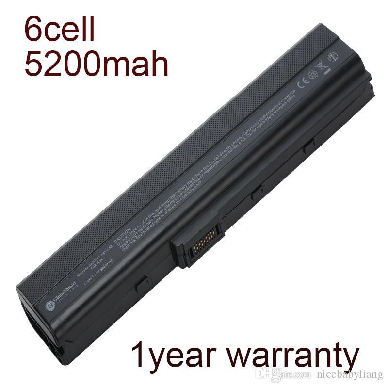Batteria per laptop 5200mah per asus A42D A42DE A42E A42JC K42JA K52DY K52D K42JK A42QR K42DE B53XI A52JB A52BY 70-NXM1B2200Z 90-NYX1B1000Y