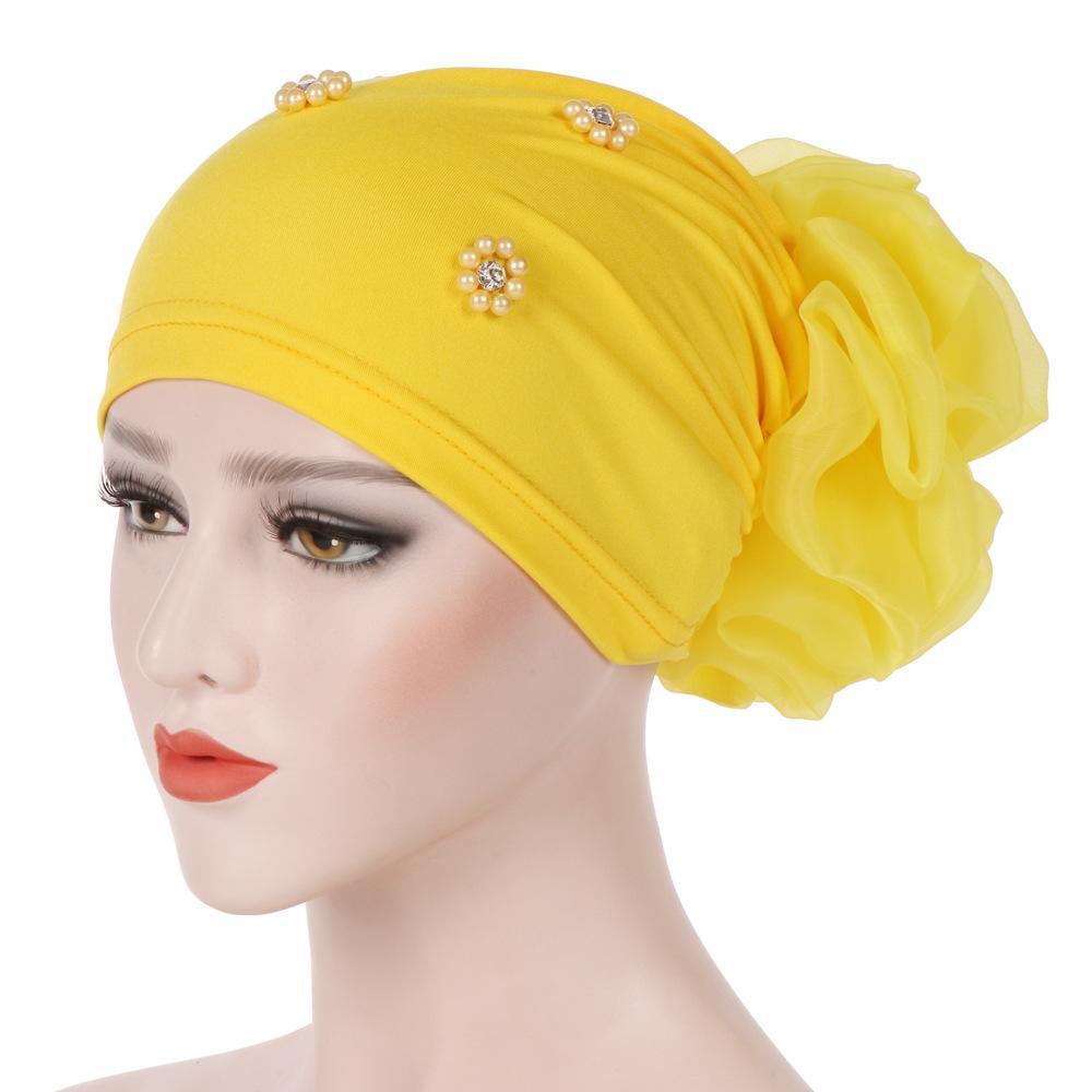 Yeni kadın Hicap Türban Bez Kafa Kap Şapka Bayanlar Saç Aksesuarları Müslüman Eşarp Kap