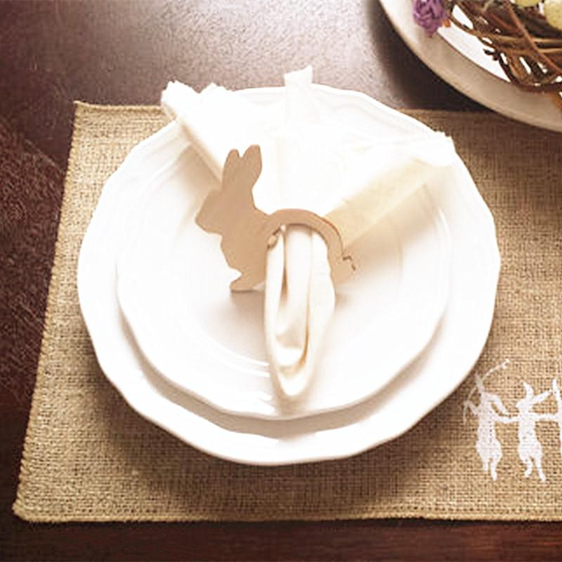 Easter Bunny Napkin Rings Easter Napkin Holders Wood Spring Table Decorations Party Theme Party Theme Decoration From Totwo10 9 77 Dhgate Com