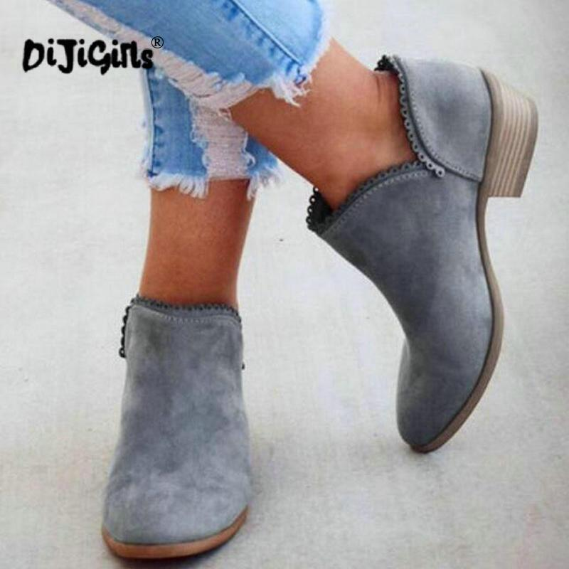 dames femmes vintage martin chaussures femme zapatos mujer sapato filles bottines carré chunky bas talons bottines Drop Shipping