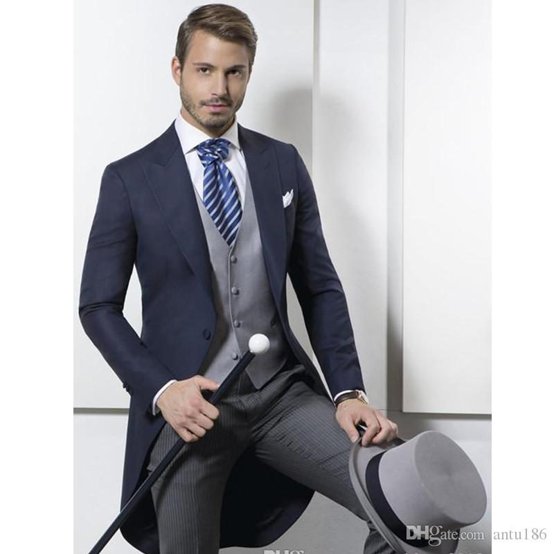 Özel klasik erkek smokin elbise düğün damat groomsmen elbise smokin erkek ince iş resmi elbise üç parçalı takım (ceket + pantolon + ve