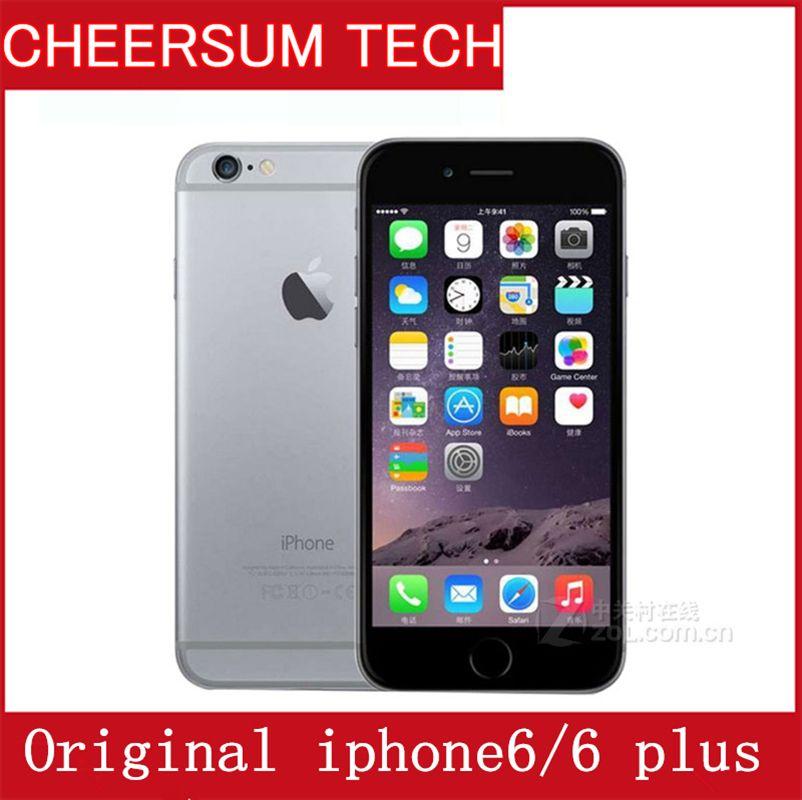 """Kilidi Orijinal Apple iphone 6 Plus Dokunmatik Kimliğin Mobil telefonun 4.7''5.5"""" iphone 6 iphone 6 artı 1GB RAM ile 16/64 / 128 GB Telefon"""