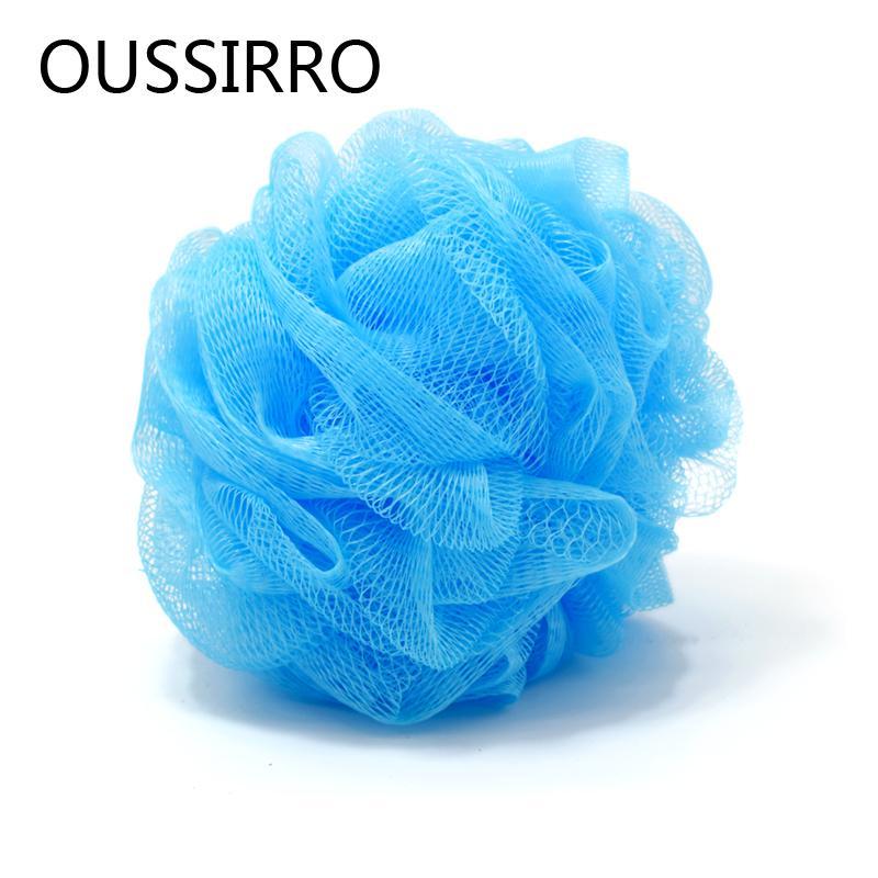 OUSSIRRO 1Pcs Soft Bath Ball PE Cool Ball Bath Towel Scrubber Body Cleaning Mesh Flower Shower Sponge Wash Bathroom Accessories