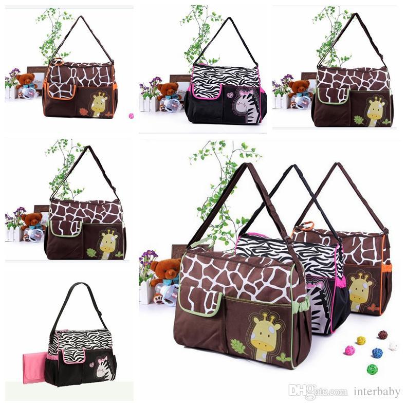Мультфильм мода детское плечо babyboom Zebra мумия пеленки подгузник сумка пакет водонепроницаемый пакет Giraffe сумки сумки многофункциональные LD23 EVTJC