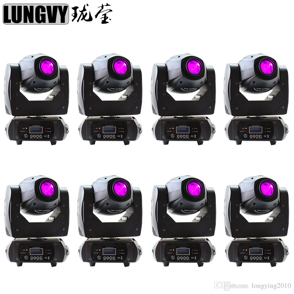 8pcs / lot 68W LED Spot luz principal móvil DMX 10 / 12CH China llevó el equipo de DJ de iluminación de escenario