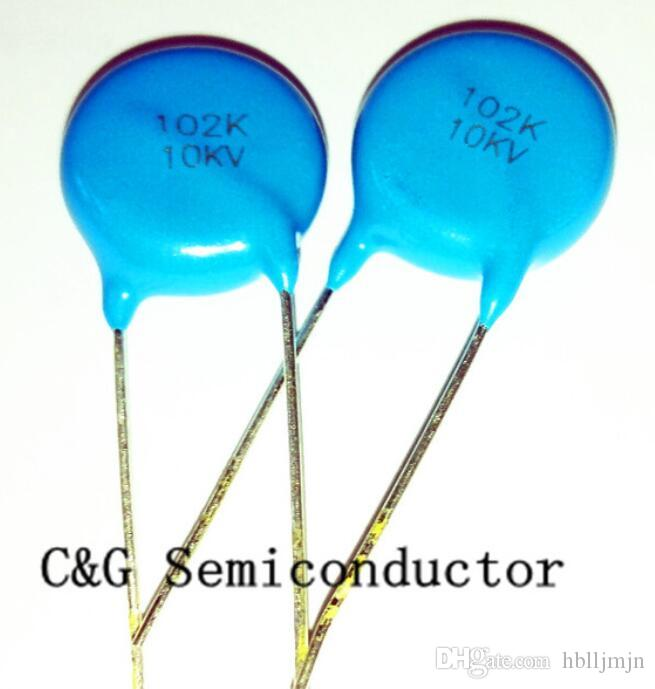 20pcs 10kv 1000pf 102 1NF Capacitor de cerámica de alto voltaje