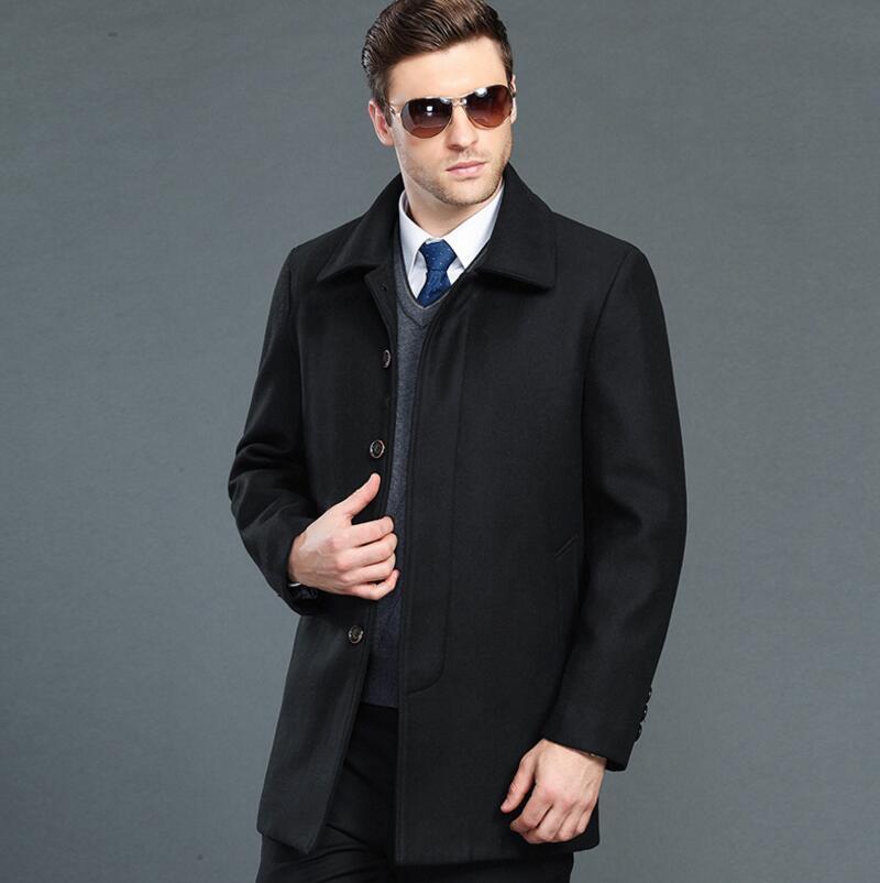 Long Wool Amp Blends Winter Coat Men, Fashion Brand Pea Coat