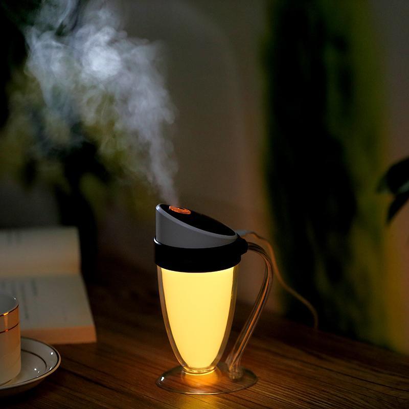 Mini Cool Mist USB Увлажнитель Воздуха Moonlight Cup Humidificador Успокаивающий СВЕТОДИОДНЫЙ Ночной Свет Аромат Мистер для Офиса Дома Автомобиля
