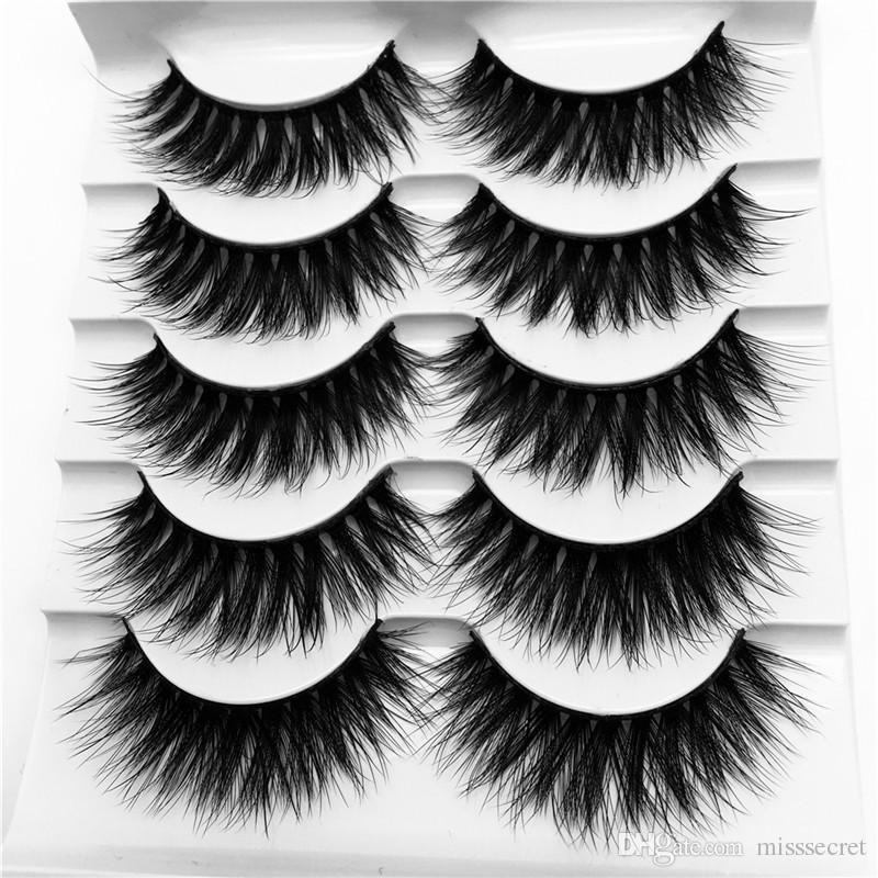 5 Paare 3D Mink Lashes voller Streifen falschen Wimpern lang super dichte Wimpern Mink Lashes Verlängerung G816 Augen Make-up Lashes