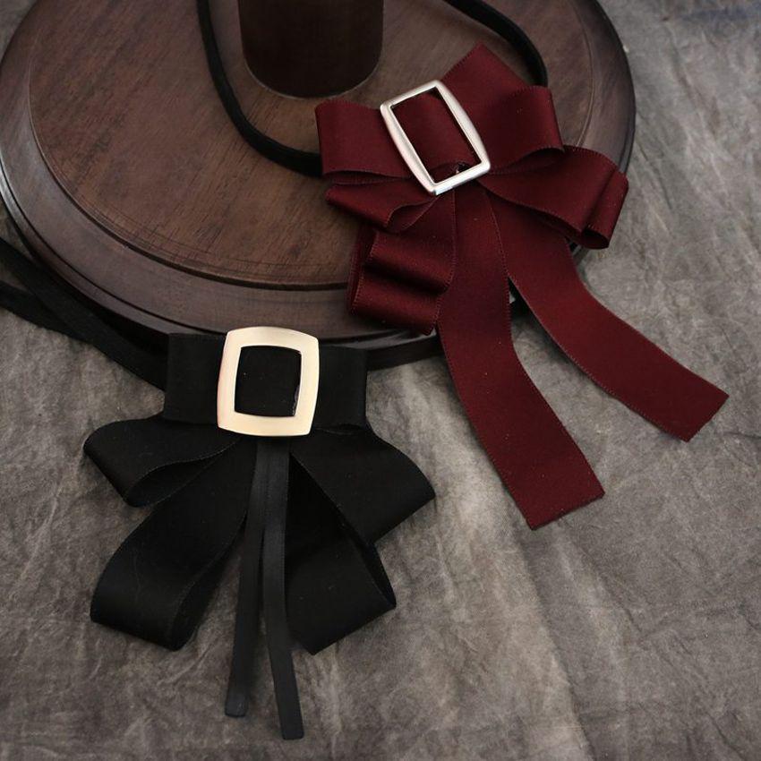 Nouvelle arrivée école style filles noeud papillon Pure Lady robe cravate collier femmes style classique cravates papillon accessoires de chemise des femmes
