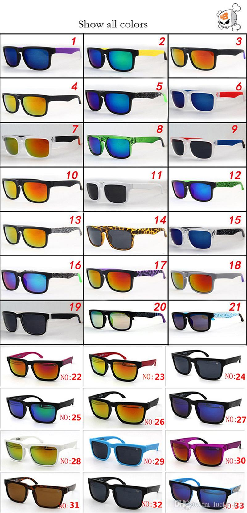 33 Colors Brand Designer Spied KEN BLOCK Sunglasses Helm Fashion Men Square Frame Brazil Hot Rays Male Driving Sun Glasses Shades Eyewear