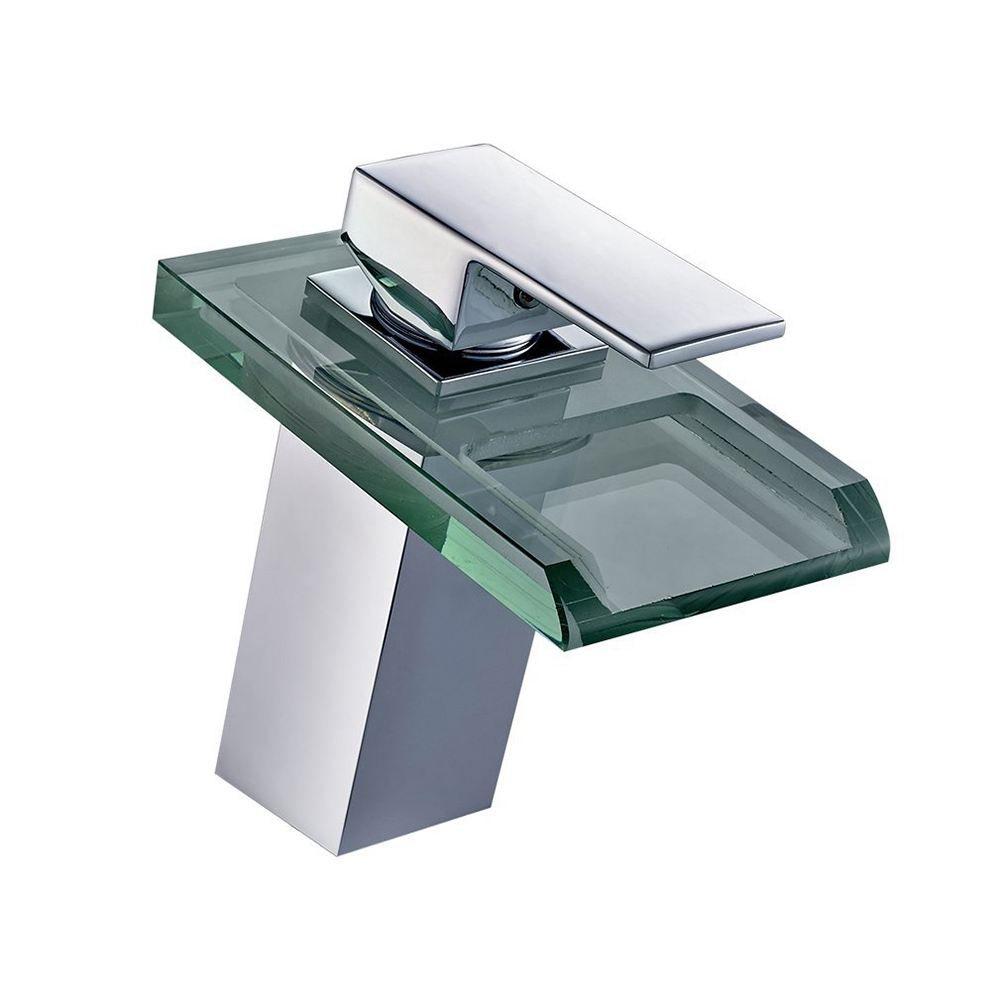robinet cascade Salle de bain LED RGB couleur changeant évier lavabo mélangeur
