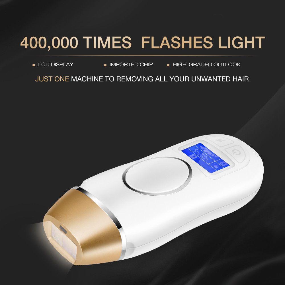 400000 dispositif d'épilation de laser de chargement initial pulsé à la maison Photon indolore rajeunissement de la peau épilateur épilation permanente de corps entier