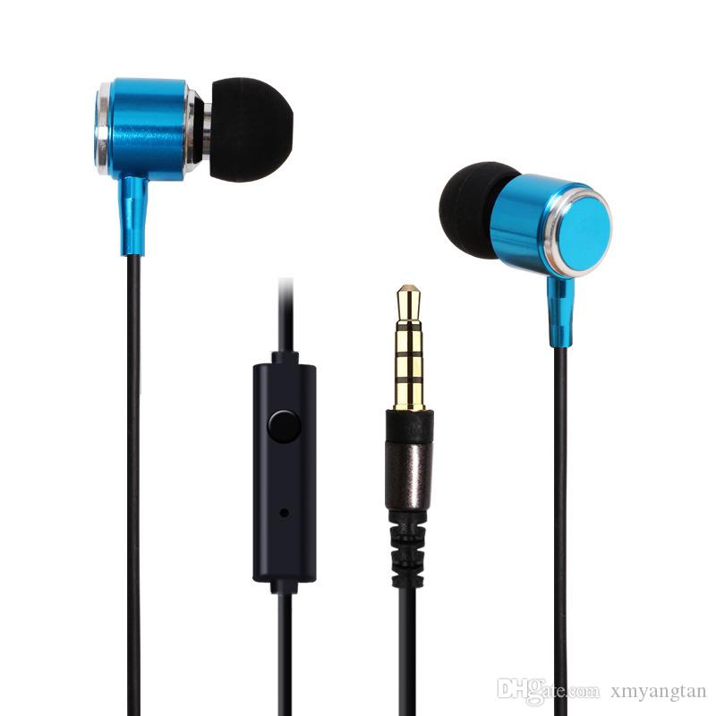 Wired In-Ear Earphone Metal Headset Electronics Magnetic with Mic Microphone Stereo Bass for Phone iphone samsung huawei xiaomi