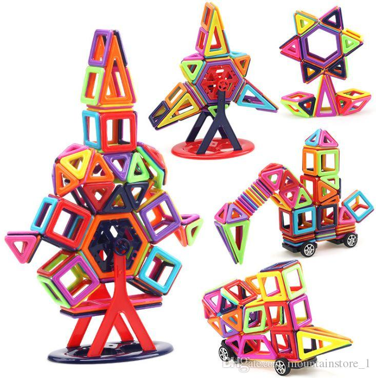 40pcs Mini Magnetic Blocks Building Construction Blocks Toy Bricks Magnet Designer 3D Diy Toys For Boys Girls