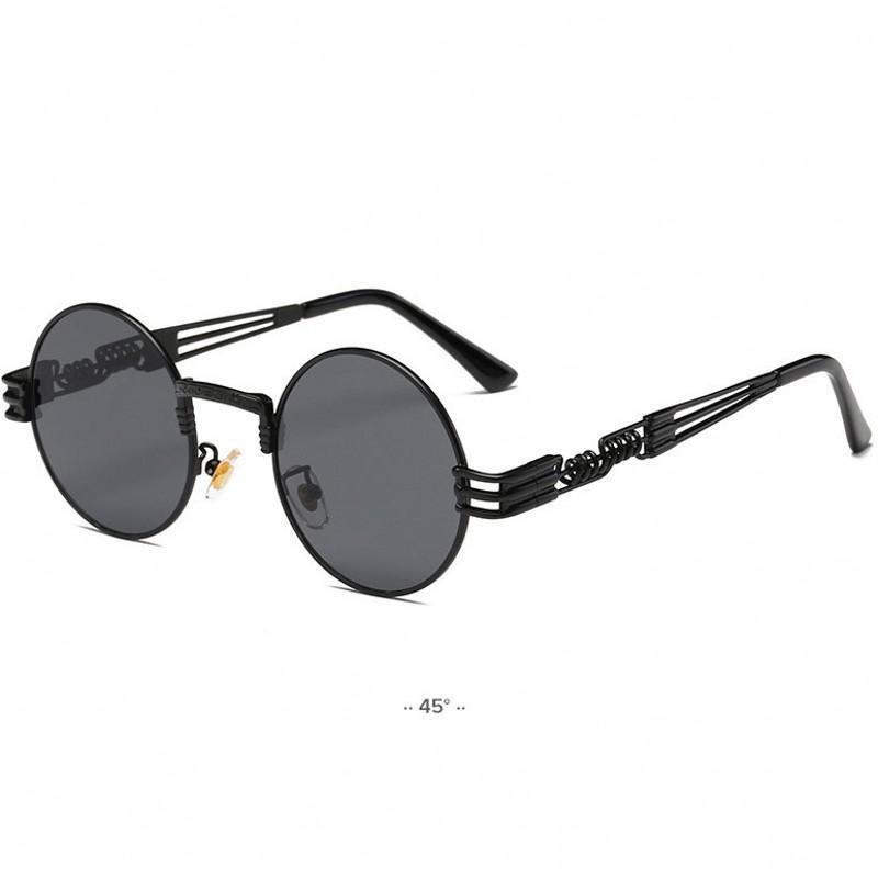 Spiegel Metall Sonnenbrille Männer Eyewear Frauen Mode Sun Vintage Marke Retro Brille Sonnenbrille UV400 Steampunk Runde Wjvuw