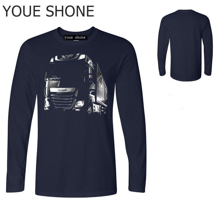 fashion Saab T Shirt Casual O-Neck Design DAF Truck T-Shirt Stampa 3D T-shirt manica lunga in cotone