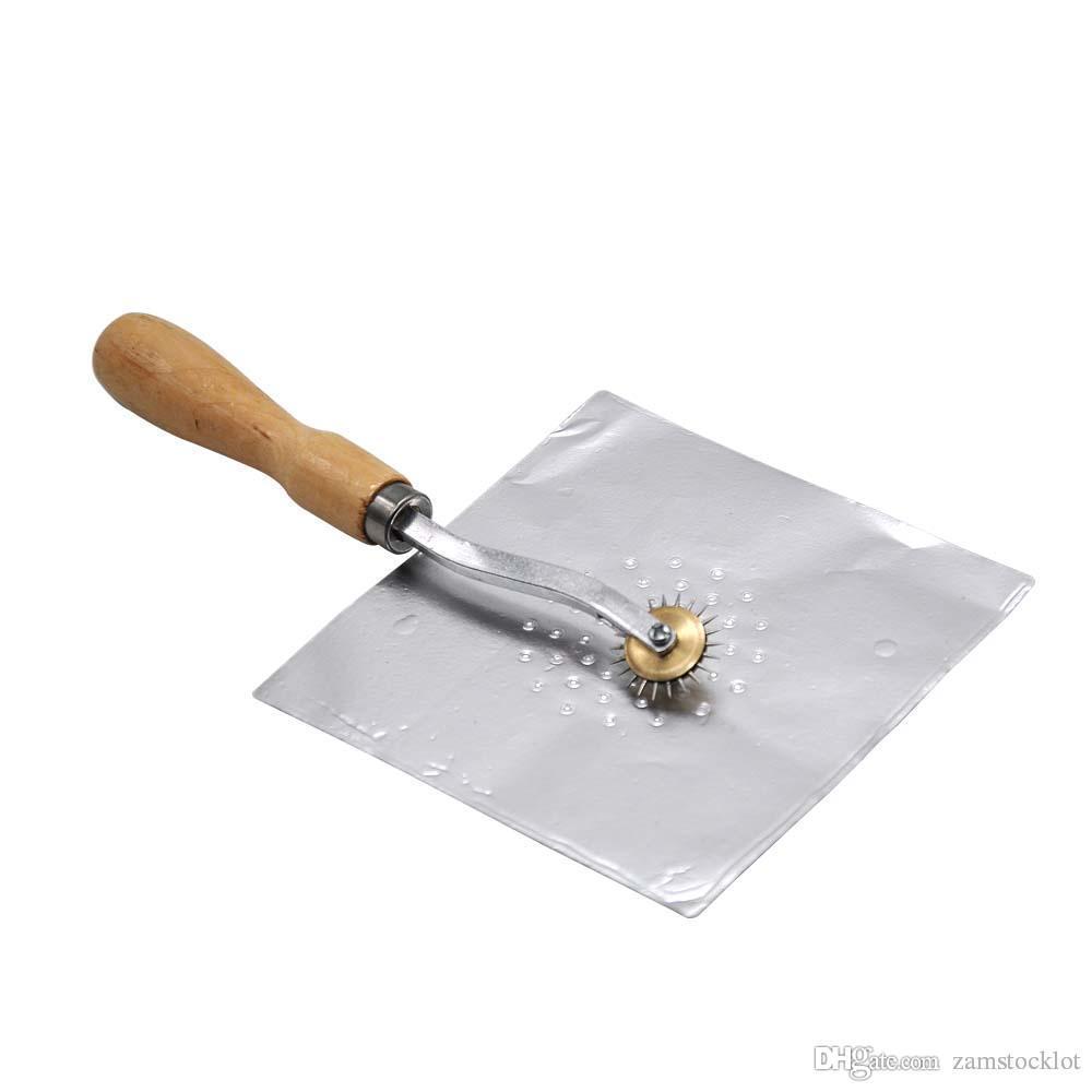 HoneyPuff Cachimbo de água Manual Da Roda De Póquer Puncher Com Punho De Madeira Folha De Perfuração Ferramenta Fouc Puncher ChiCha Hookah Acessórios