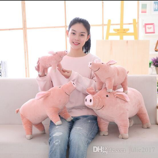 Simulation Plush Pig Toy Soft Stuffed Animal Pig Doll Lovely Cartoon Pig Pillow Kids Toy Creative Birthday Gift for Girl