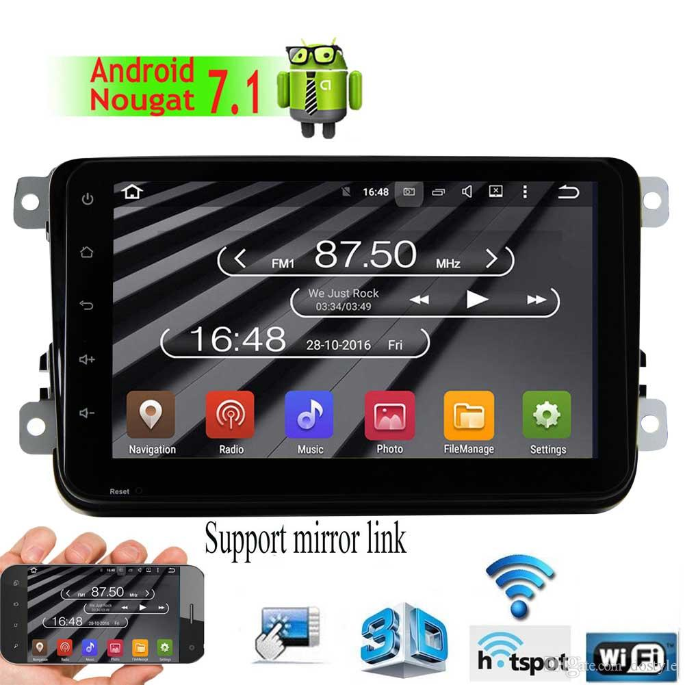 EinCar 8'' 32GB 2GB Android 7.1 Double Din Car Stereo for VW Golf Skoda Car Auto Radio Video GPS Navigation Audio Bluetooth